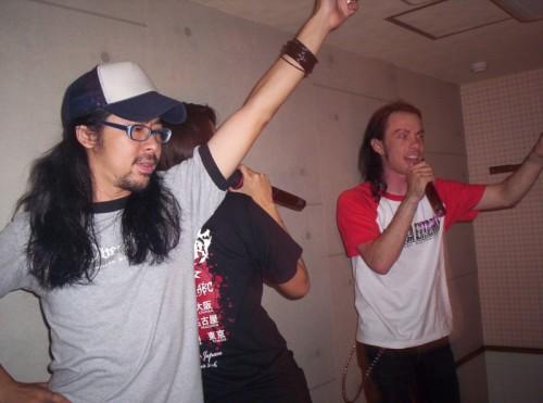 ross sewage and nary doing karaoke