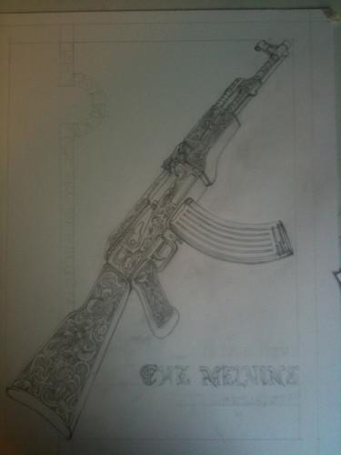 melvins ak47 sketch