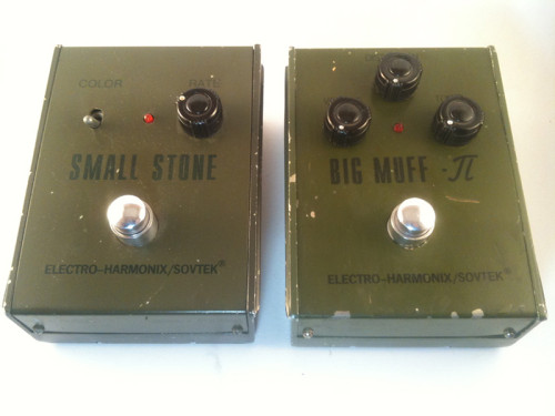 Sovtek Big Muff Pi and Small Stone Phaser