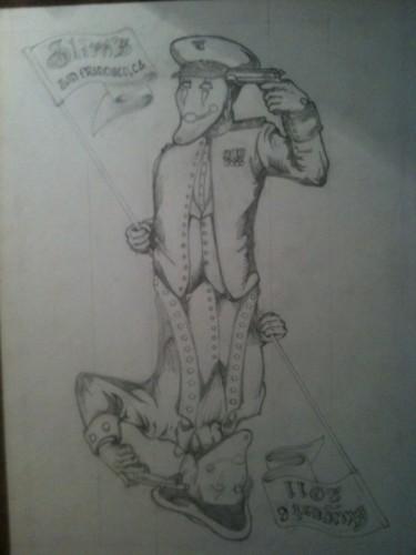 Big Business Torche sketch rough