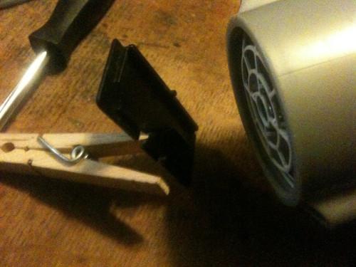 DOD battery door latch fix
