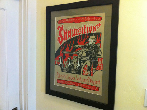 inquisition poster hanging