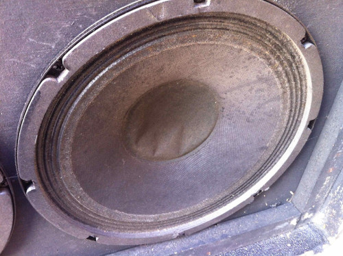 dented speaker dust cap