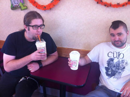 Dan, the black coffee man, and Sean, who likes caffeinated ice-cream