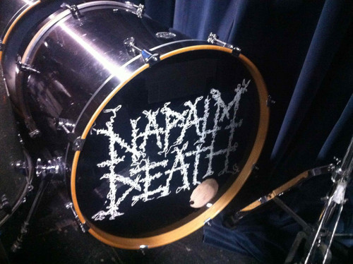 napalm death drum head