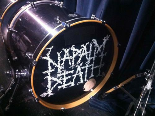 napalm death drum head