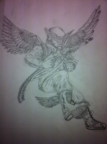Fallshchirmjäger high on fire sketch