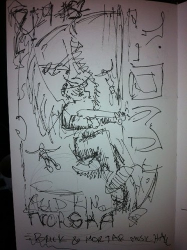 Yob poster rough sketch